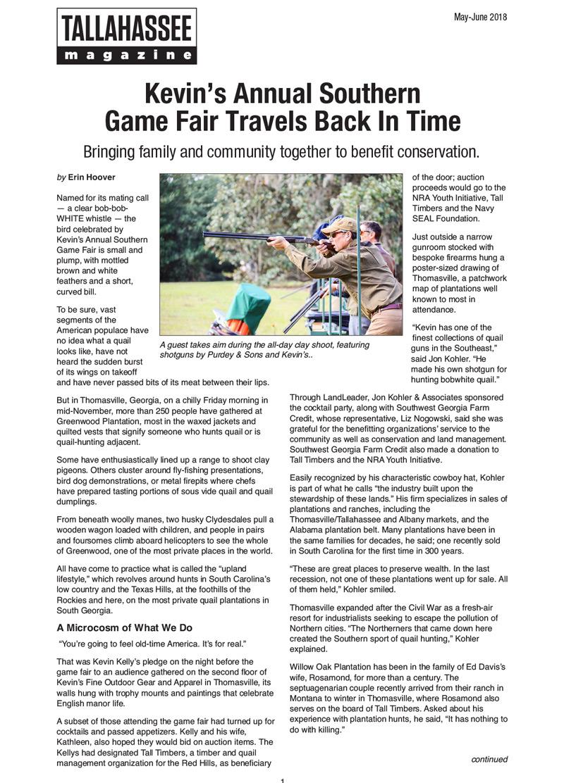 Tallahassee Magazine Post