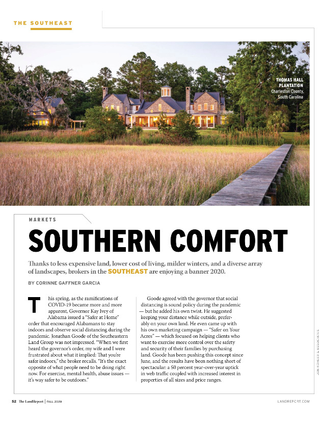 The Land Report Thomas Hall Plantation