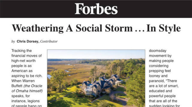 Forbes Weathering a Social Storm In Style